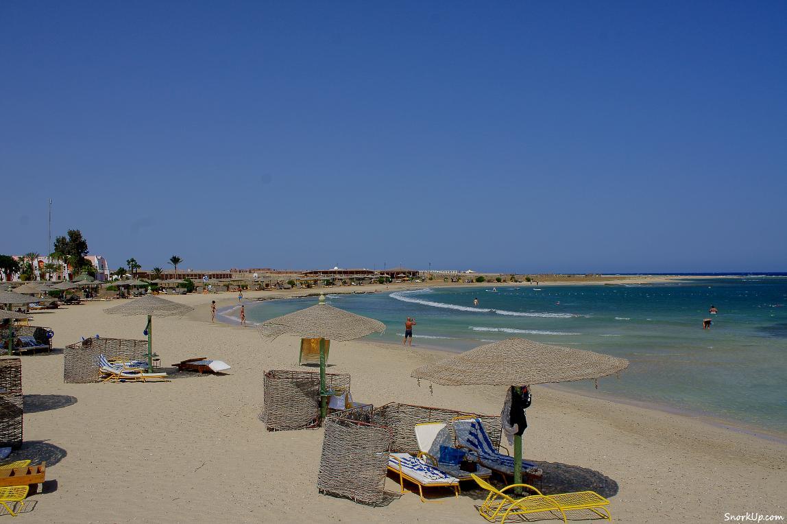 Пляж Shams Alam - вид с южной стороны
